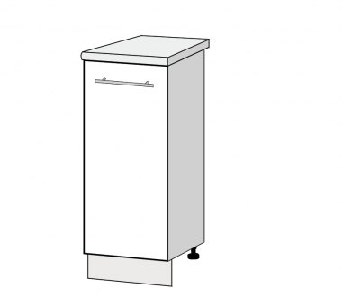 800mm 2 door base cabinet high gloss k 39 space kitchens for Kitchen cabinets 800mm