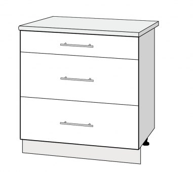 800mm 3 drawers cabinet high gloss k 39 space kitchens Pantry 800mm